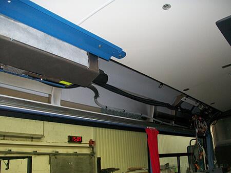Climatisation intégrée dans un bus