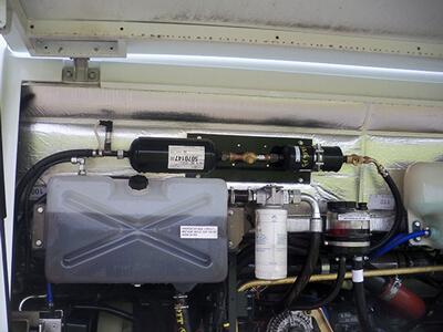 Climatisation intégrée moteur